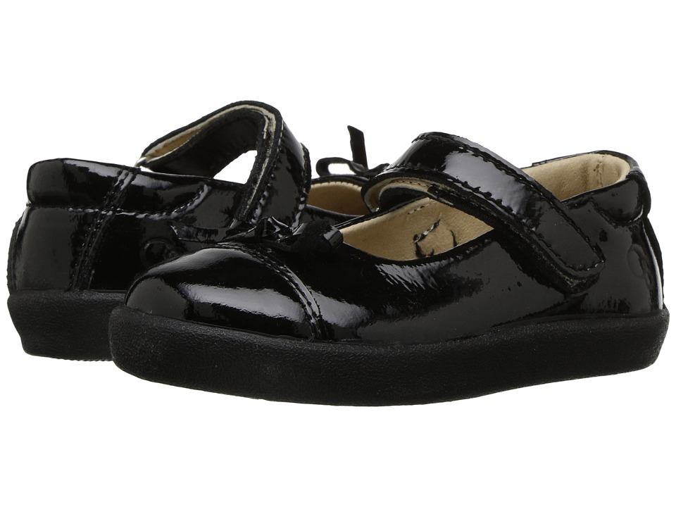 Old Soles Twin Sista (Toddler/Little Kid) (Black Patent) Girl's Shoes