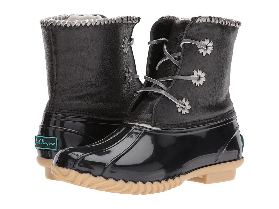 Jack Rogers Chloe (Black Metallic) Women