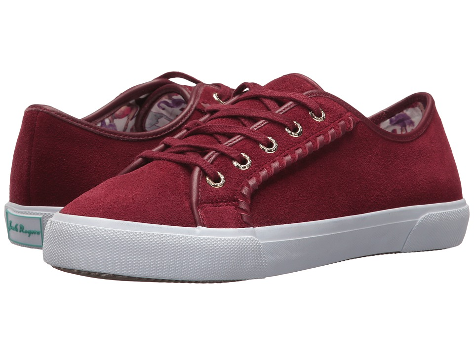 Jack Rogers Carter Suede Waterproof (Burgundy Suede) Women