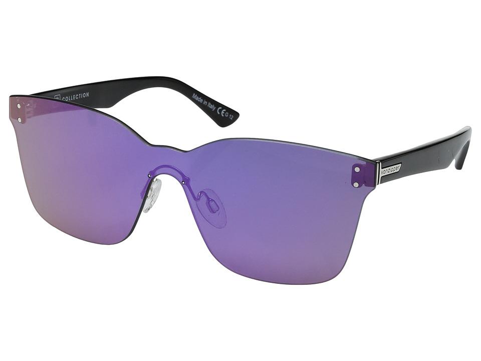VonZipper Alt-Howl (Black Gloss/Flash Pink) Fashion Sunglasses