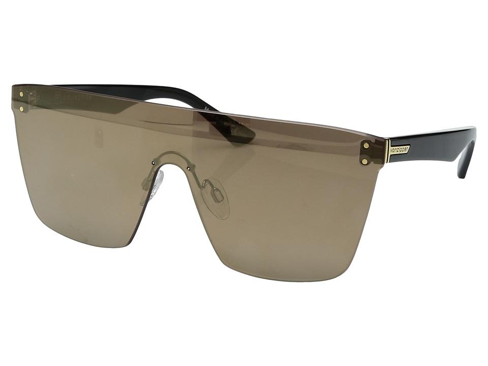 VonZipper Alt-Donmega (Black Gloss/Flash Gold) Sport Sunglasses