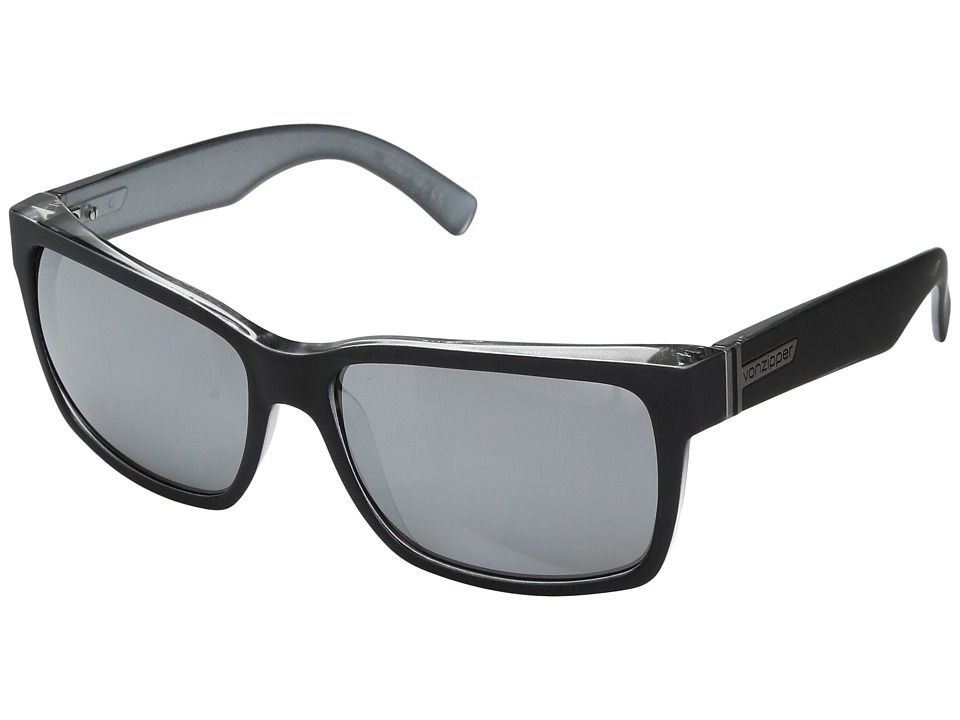VonZipper Elmore (Black Steel/Silver Grey Chrome) Sport Sunglasses
