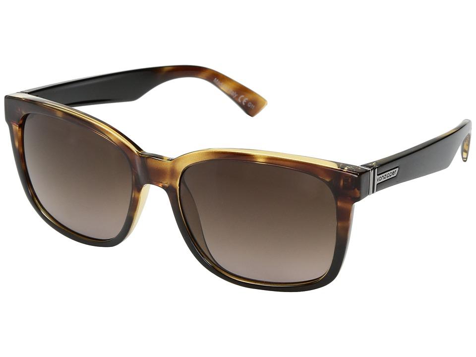 VonZipper Howl (Reverse Black Tortoise/Brown Gradient) Fashion Sunglasses