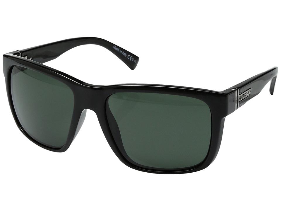 VonZipper Maxis (Black Gloss/Vintage Grey) Sport Sunglasses
