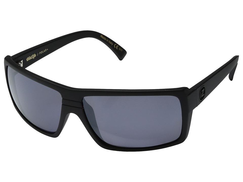 VonZipper Snark Polar (Black Satin/Wild Silver Flash Polar Plus) Sport Sunglasses