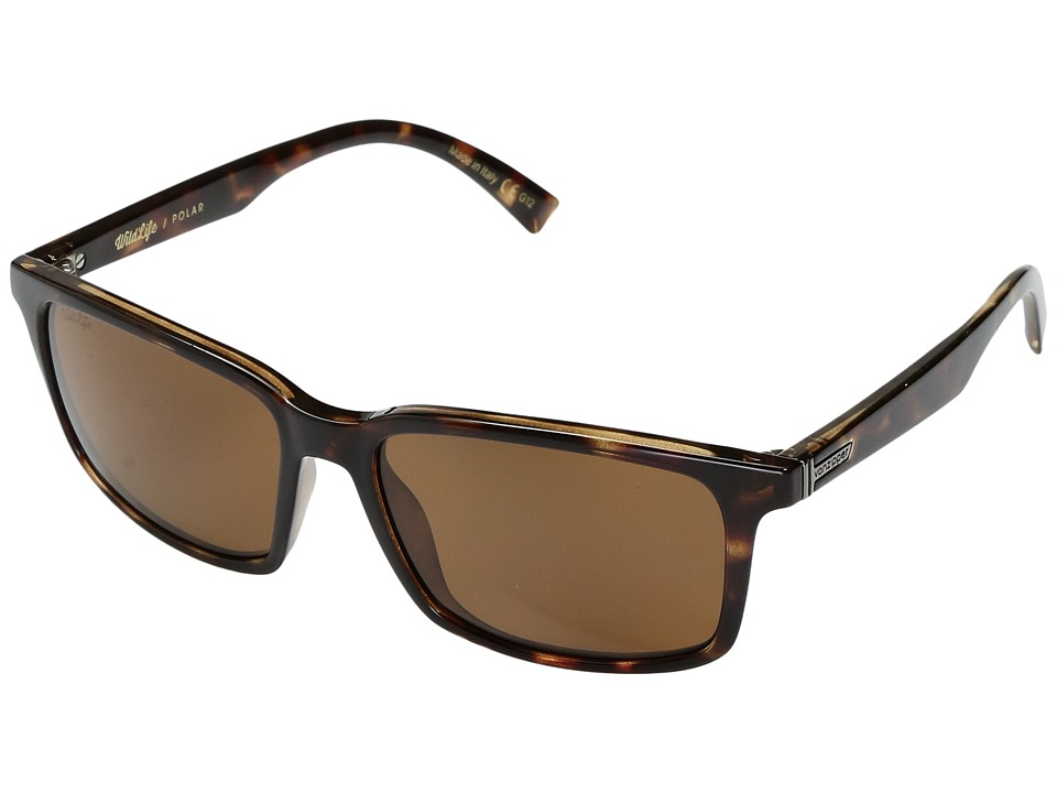 VonZipper Pinch Polar (Tobacco Tortoise/Wild Bronze Polar) Sport Sunglasses