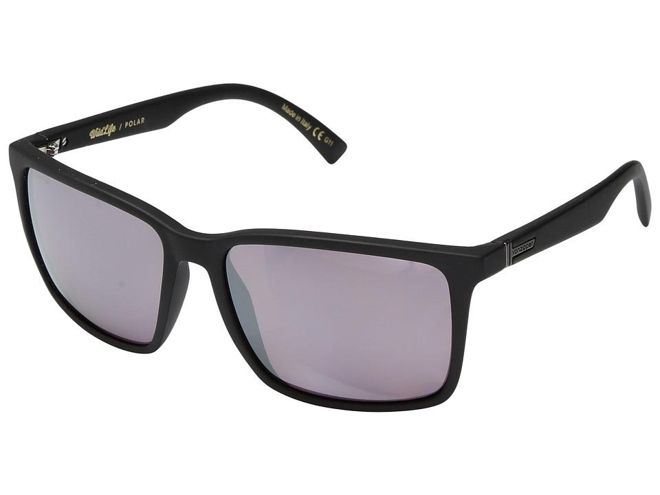 VonZipper Lesmore Polar (Black Satin/Wild Rose Polar) Sport Sunglasses