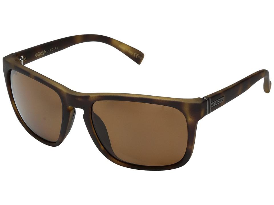 VonZipper Lomax Polar (Tortoise Gloss/Wild Bronze Polar) Fashion Sunglasses