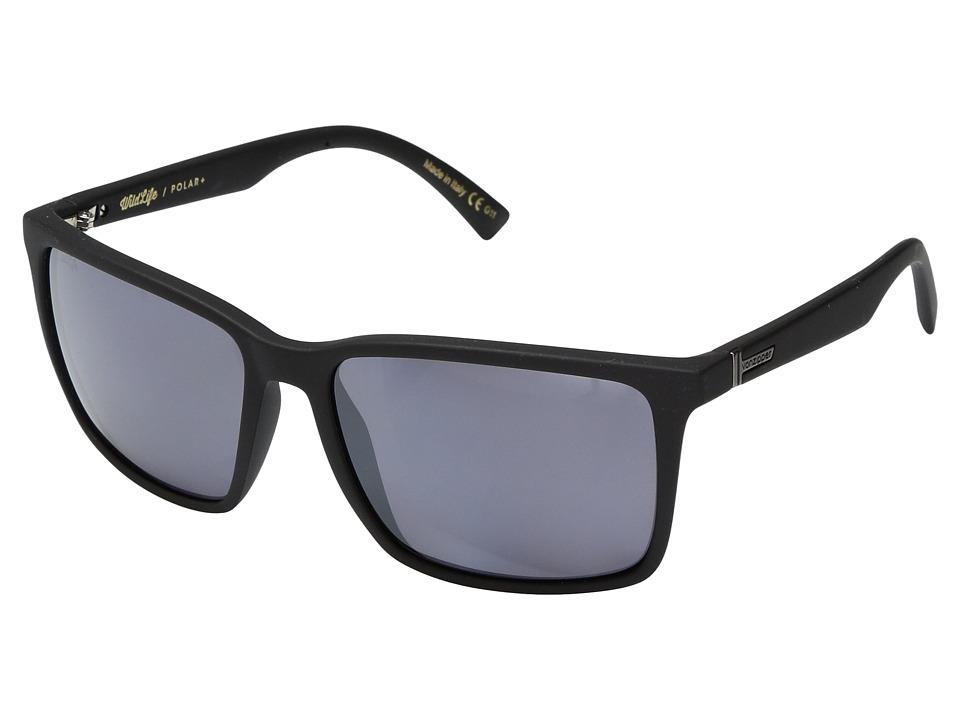VonZipper Lesmore Polar (Black Satin/Wild Silver Flash Polar Plus) Sport Sunglasses