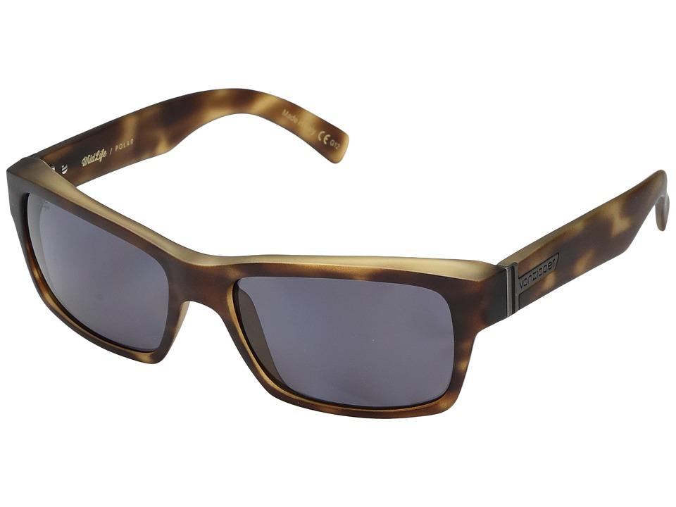 VonZipper - Fulton Polar (Tortoise Satin/Wild Vintage Grey Polar) Sport Sunglasses