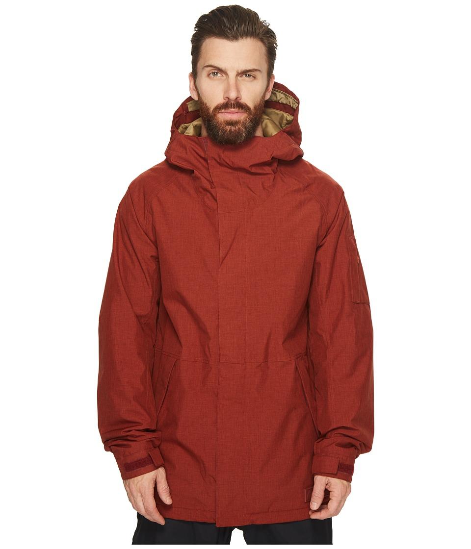 Burton Hilltop Jacket (Fired Brick) Men's Coat