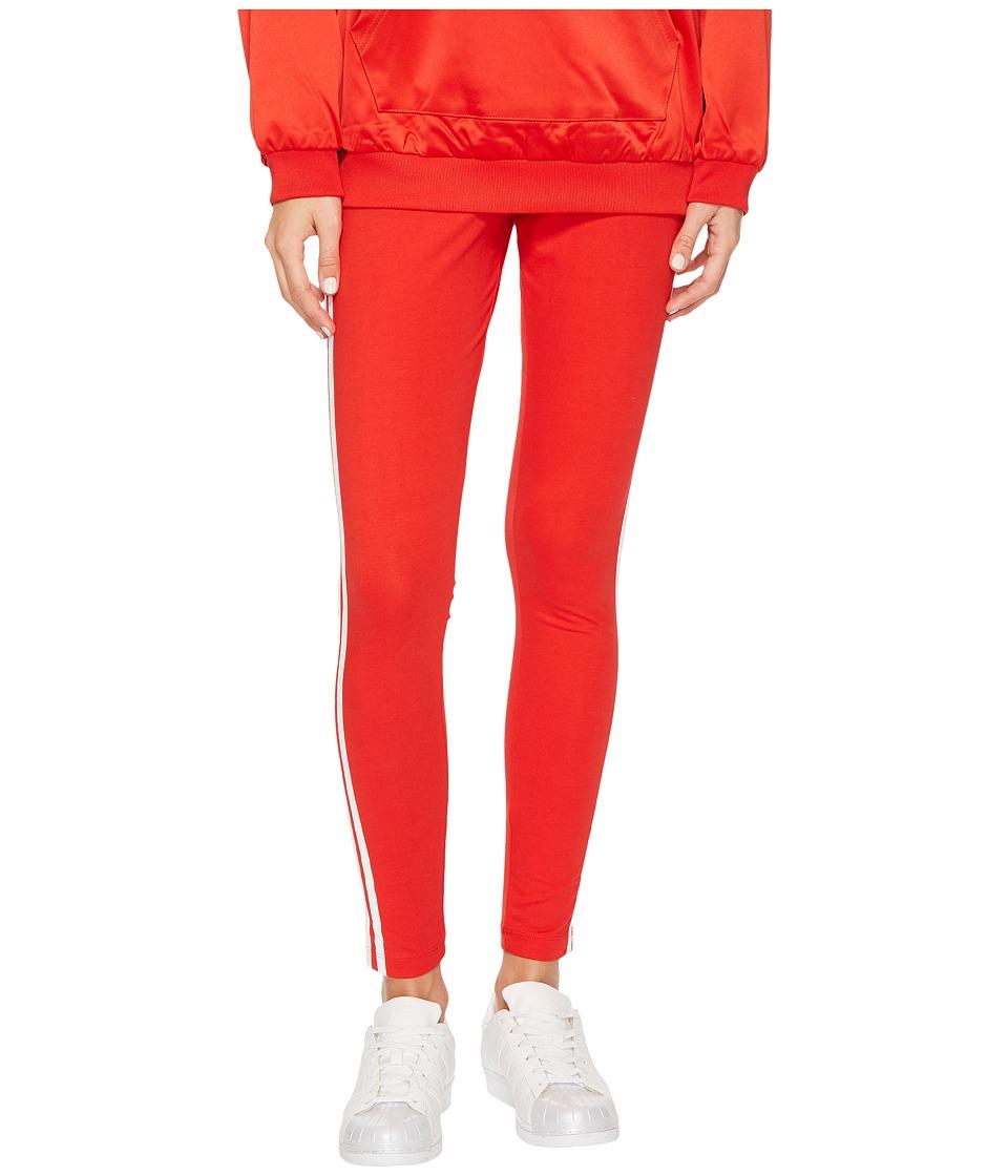 adidas Originals 3-Stripes Leggings (Vivid Red) Women