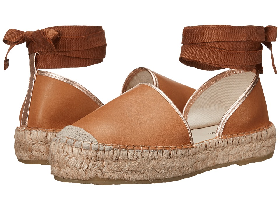 Free People Paradise Leather Espadrille (Taupe) Women