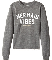 Spiritual Gangster Kids - Mermaid Vibes Crop Sweatshirt (Big Kids)