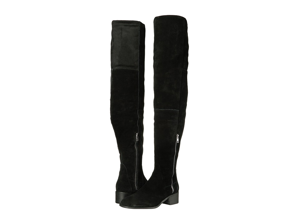 Free People Everly Tall Boot (Black) Women