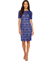 Adrianna Papell - Corded Stripe Lace Dress