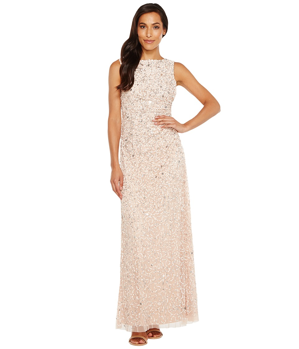 Adrianna Papell Adrianna Papell - Cowl Drape Crunchy Bead Gown