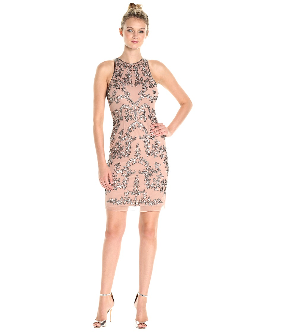 Adrianna Papell - Short Halter Fully Beaded Dress