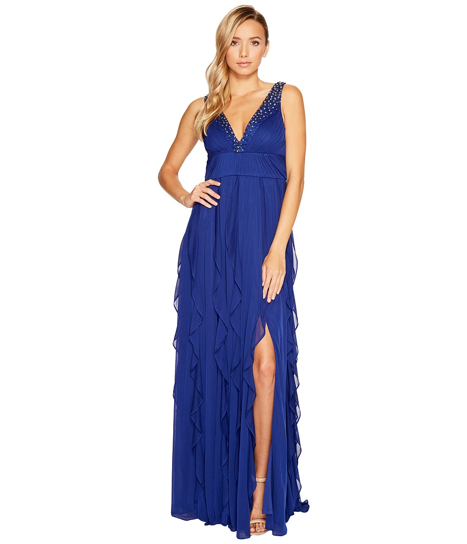 Adrianna Papell - Shirred Stretch Tulle Gown