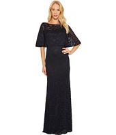 Adrianna Papell - Stretch Lace Caplet Gown