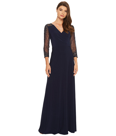 Adrianna Papell Jersey Beaded Gown