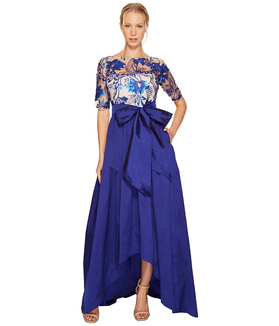 Adrianna Papell - Floral Flutter Sequin Embellished Gown