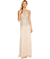 Adrianna Papell - Plunging Halter Beaded Gown