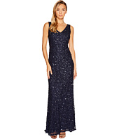 Adrianna Papell - V-Neck Crunchy Bead Gown
