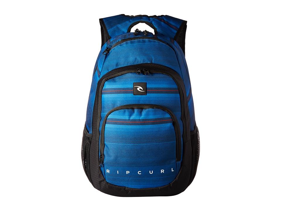 Rip Curl Overtime Backpack (Rapture Lines Navy) Backpack Bags