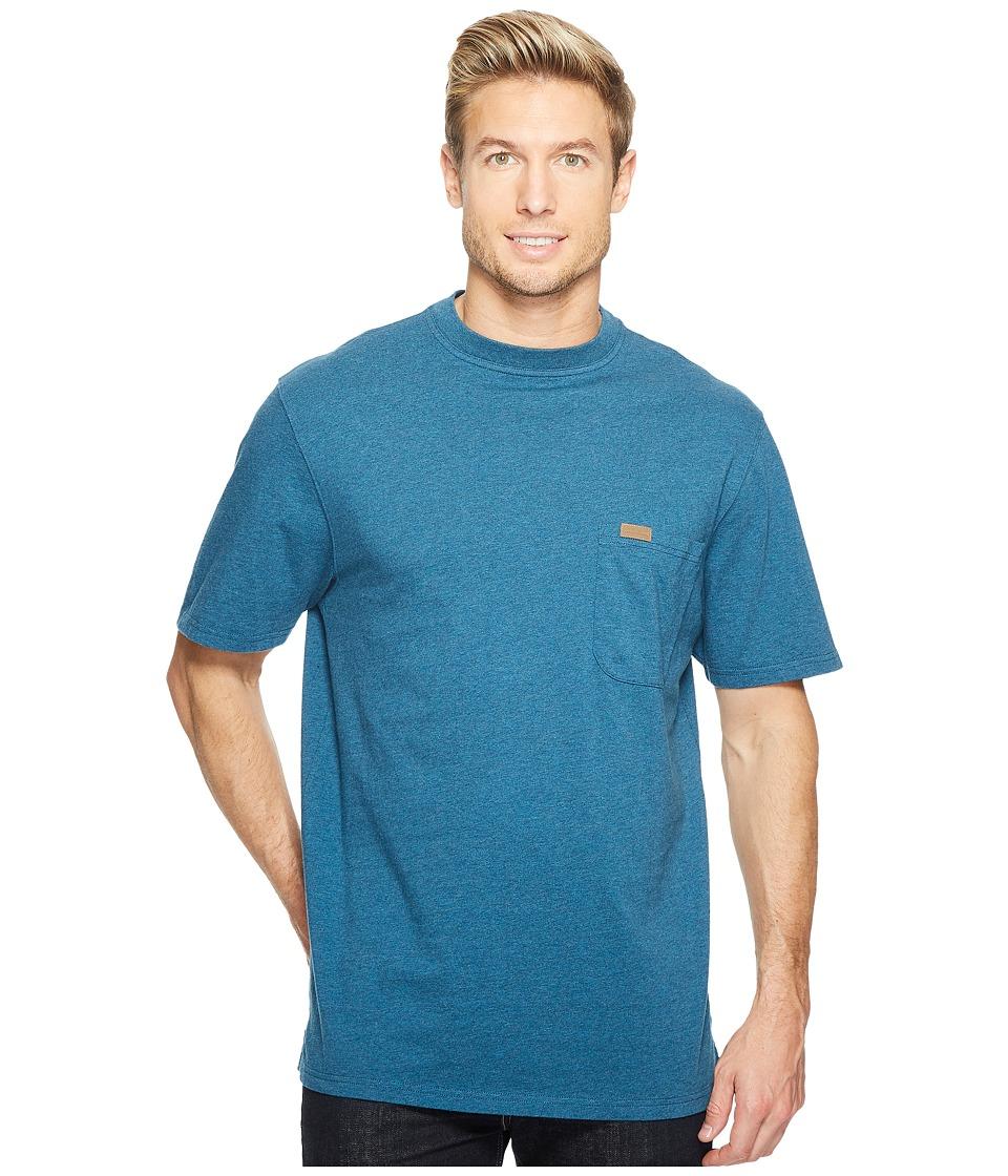 Pendleton S/S Deschutes Pocket Shirt (Deep Cyan Heather) Men