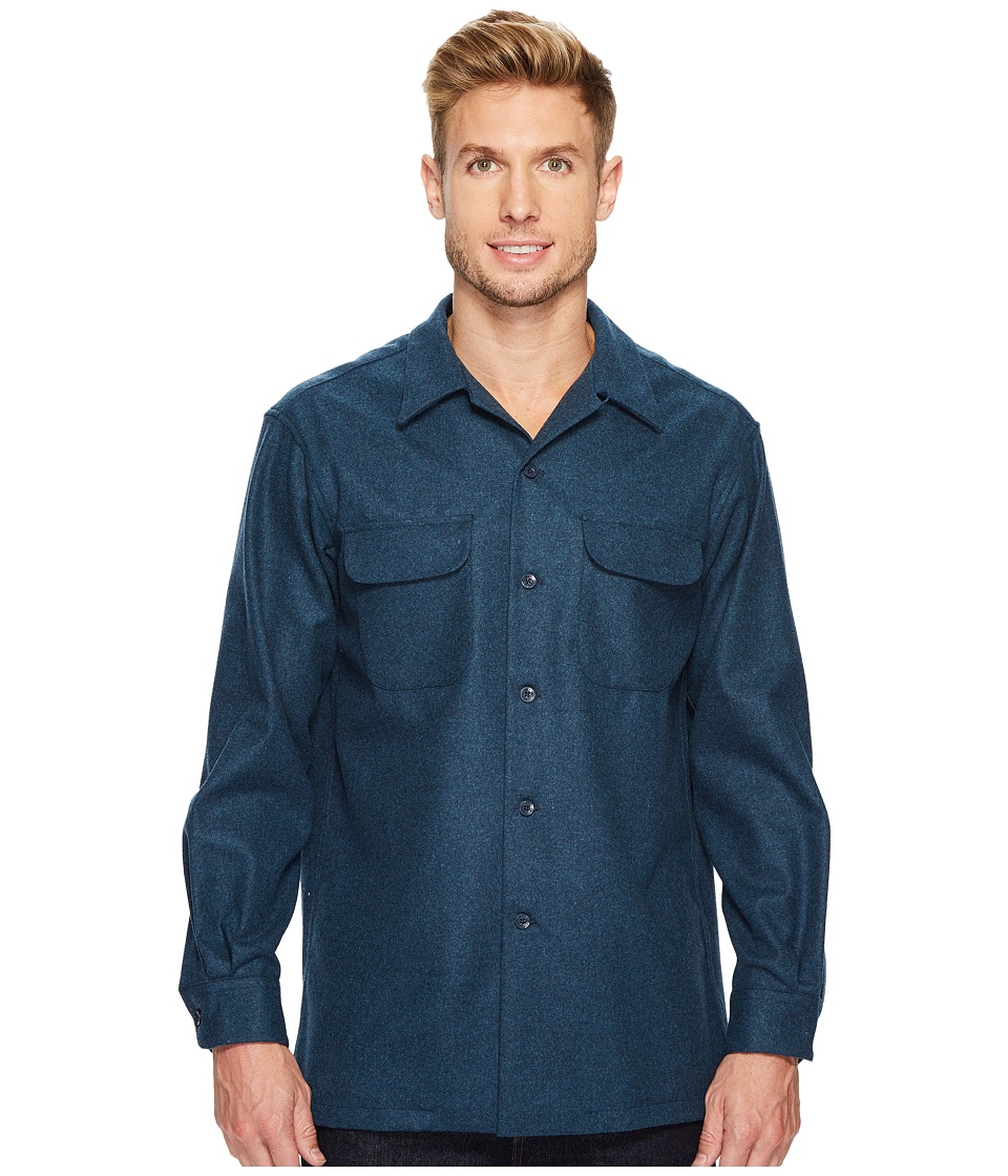 Pendleton - L/S Board Shirt (Blue Mix) Mens Long Sleeve Button Up
