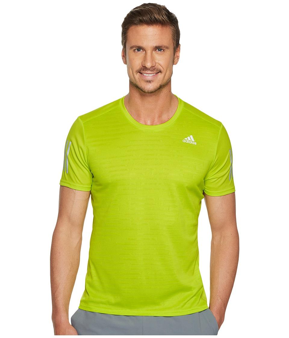 adidas Response Short Sleeve Tee (Semi Solar Yellow) Men
