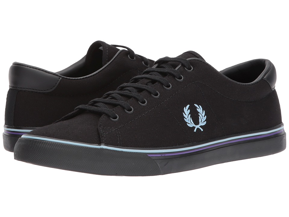 Fred Perry Underspin Canvas (Black/Sky Blue/Purple) Men