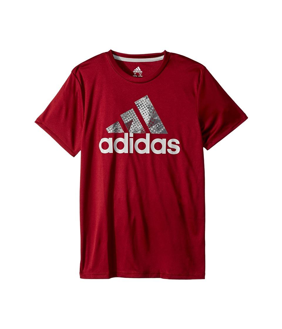adidas Kids - Short Sleeve Pattern Fill Logo Tee