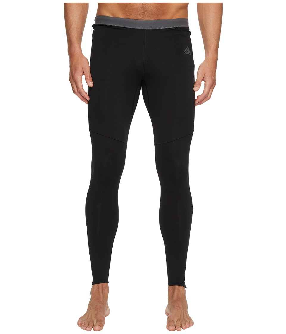 adidas Response Climawarm Tights (Black/Black) Men