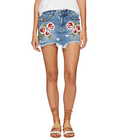Free People - Wild Rose Embroidered Mini Skirt