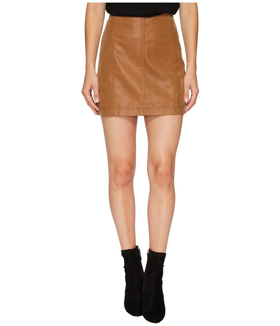 Free People Modern Femme Vegan Suede Mini Skirt (Beige) Women