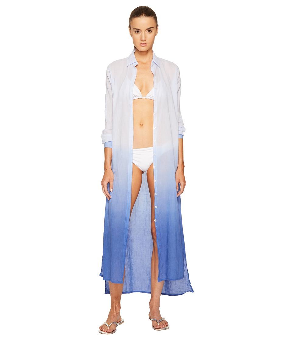 Letarte Long Ombre Beachshirt (Bleached Denim) Women