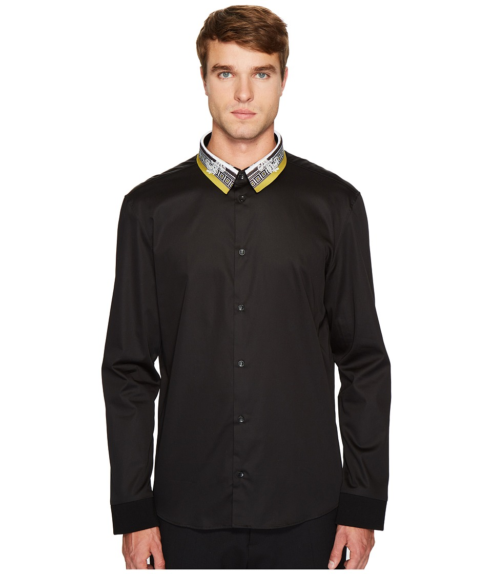 Versace Collection - Button Down with Detailed Collar (Bl...