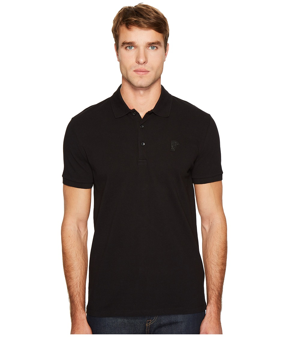 Versace Collection - Logo Polo (Black) Mens Clothing