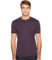 Versace Collection - Short Sleeve Henley with Edge Detail