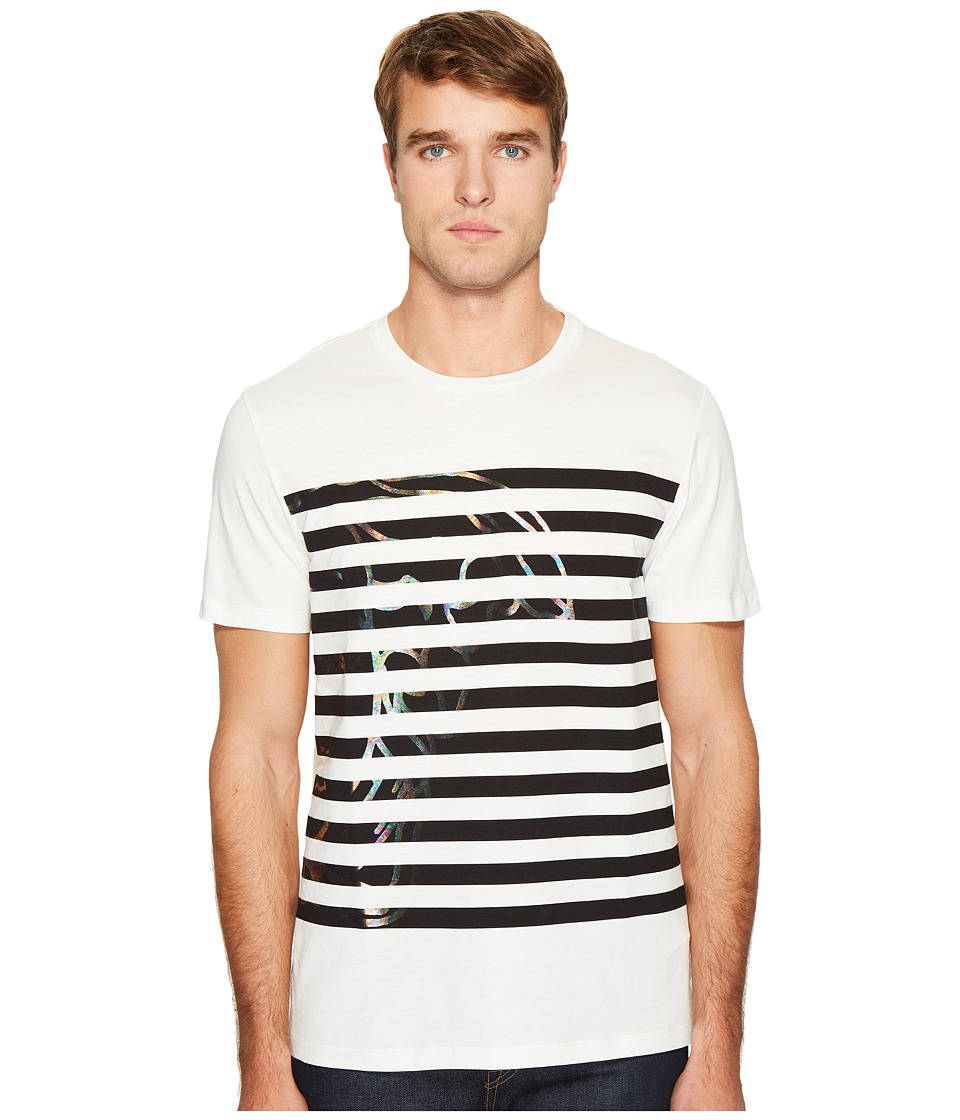 Versace Collection Stripe Detail T-Shirt (White) Men