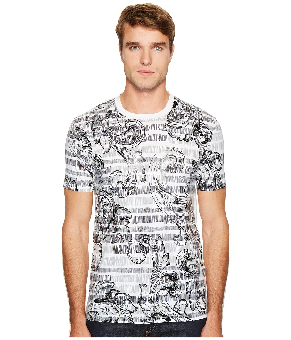 Versace Collection Print T-Shirt (White/Black) Men