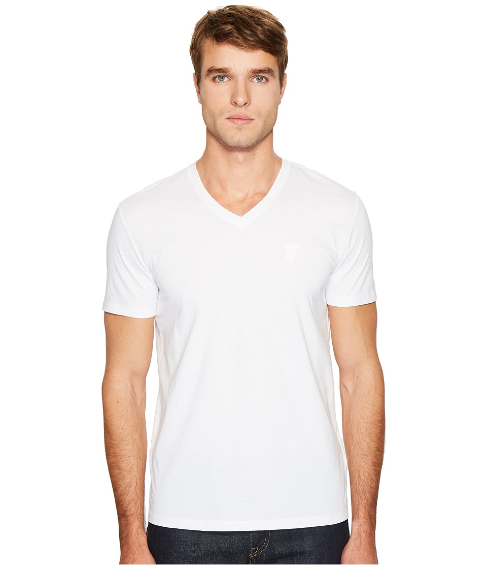 Versace Collection Logo V-Neck Tee (White) Men