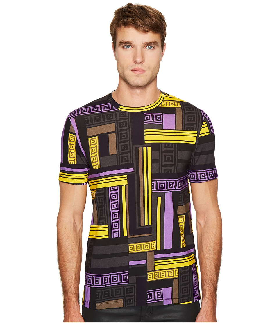 Versace Collection Linear Print T-Shirt (Lilac) Men