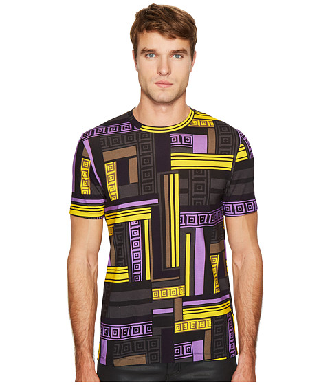 Versace Collection Linear Print T-Shirt