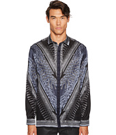 Versace Collection - Silk Tassel Print Button Down