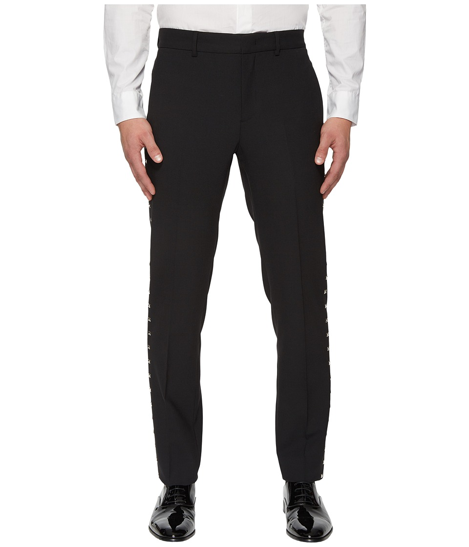 Versace Collection - X Applique Trousers (Black) Mens Casual Pants