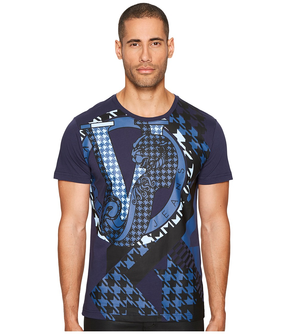 Versace Jeans Expanded Tiger Logo T-Shirt (Blue) Men