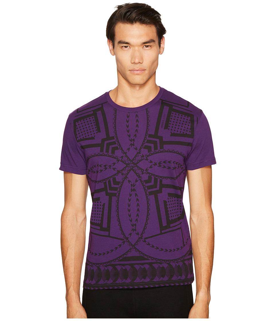 Versace Jeans Kaleidoscope Print T-Shirt (Purple) Men